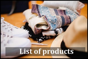 Amersklad List of Products